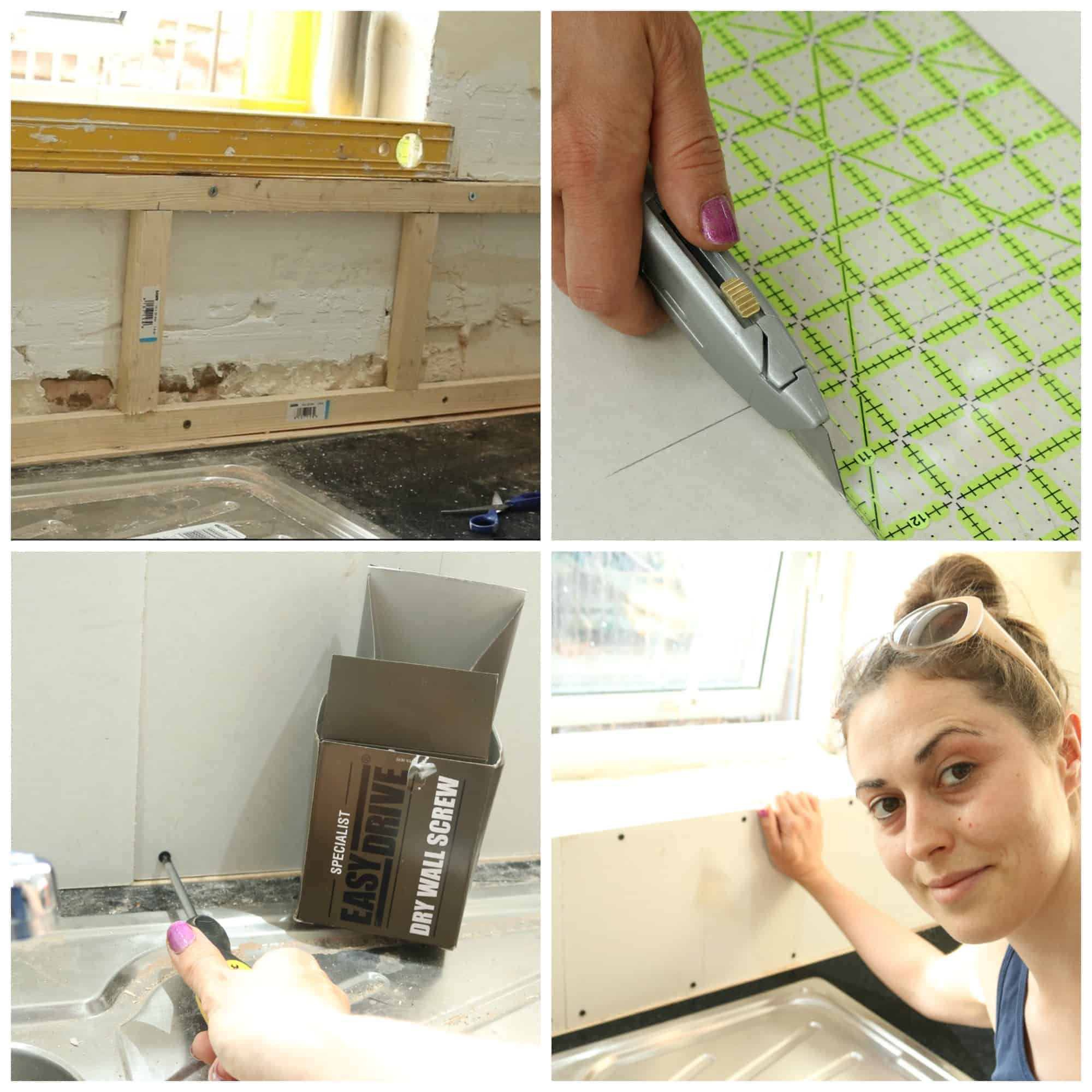 Girl DIY: Stud & Plasterboard a Wall