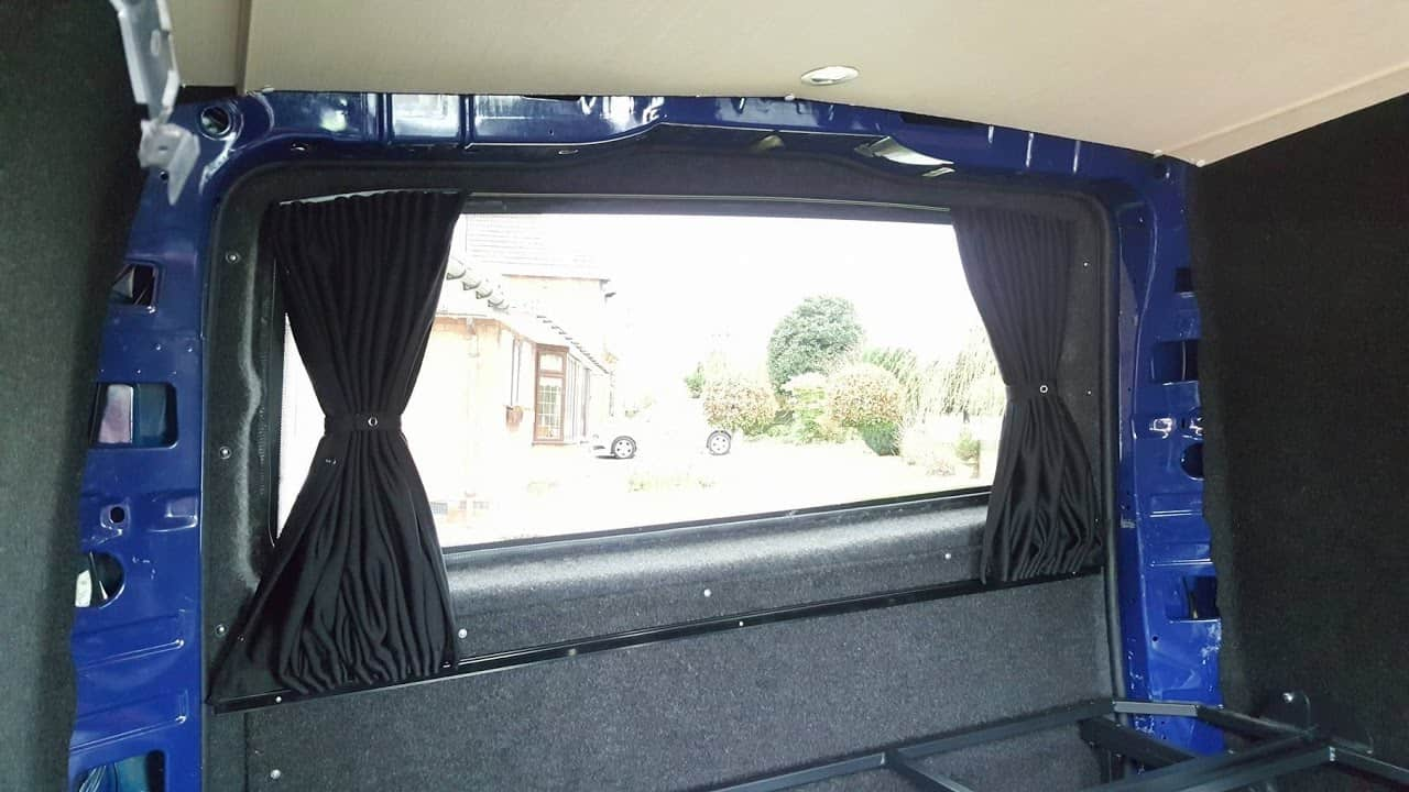 Fitting Mercedes Vito Camper Van-X Tailgate Blinds