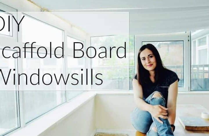 DIY Scaffold Board Conservatory Windowsills