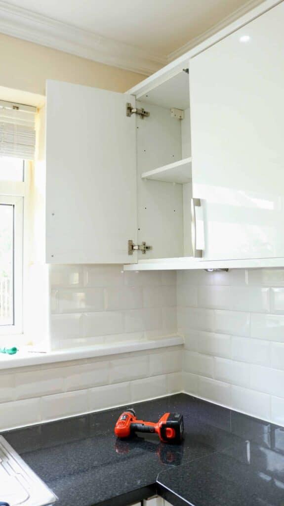 Easy DIY Kitchen Cupboard Door Hinge Fix