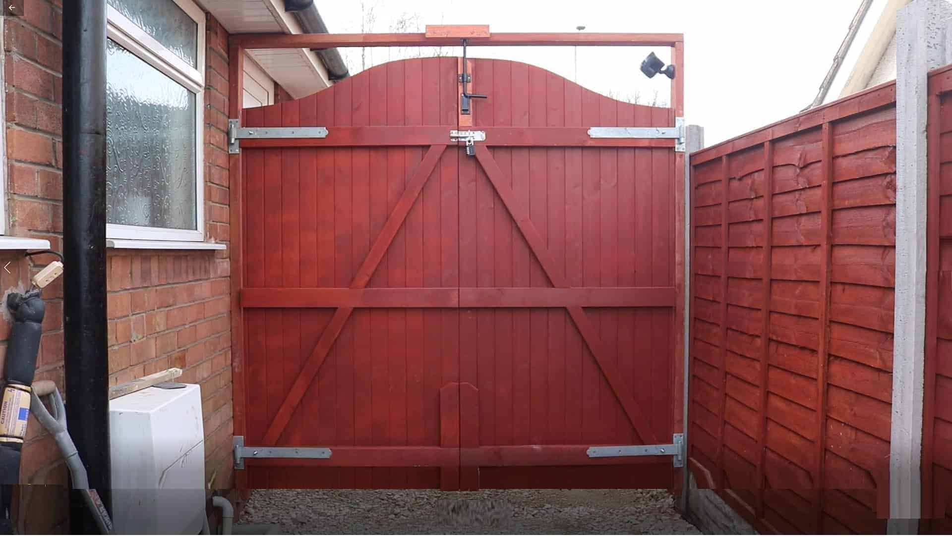 How I Made & Fitted our DIY Double Wooden Gates