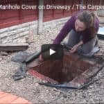 Replacing a Manhole Cover on Driveway