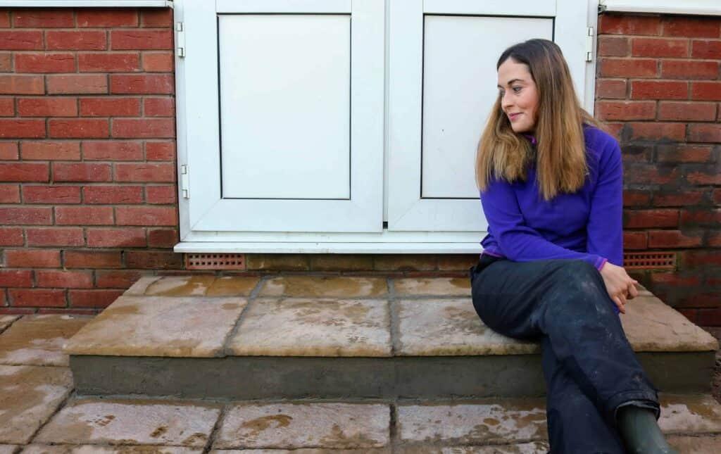 Rendered Breeze Block Patio Step DIY (Cost £60)