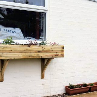 DIY Flower Window Boxes & Gallows Brackets
