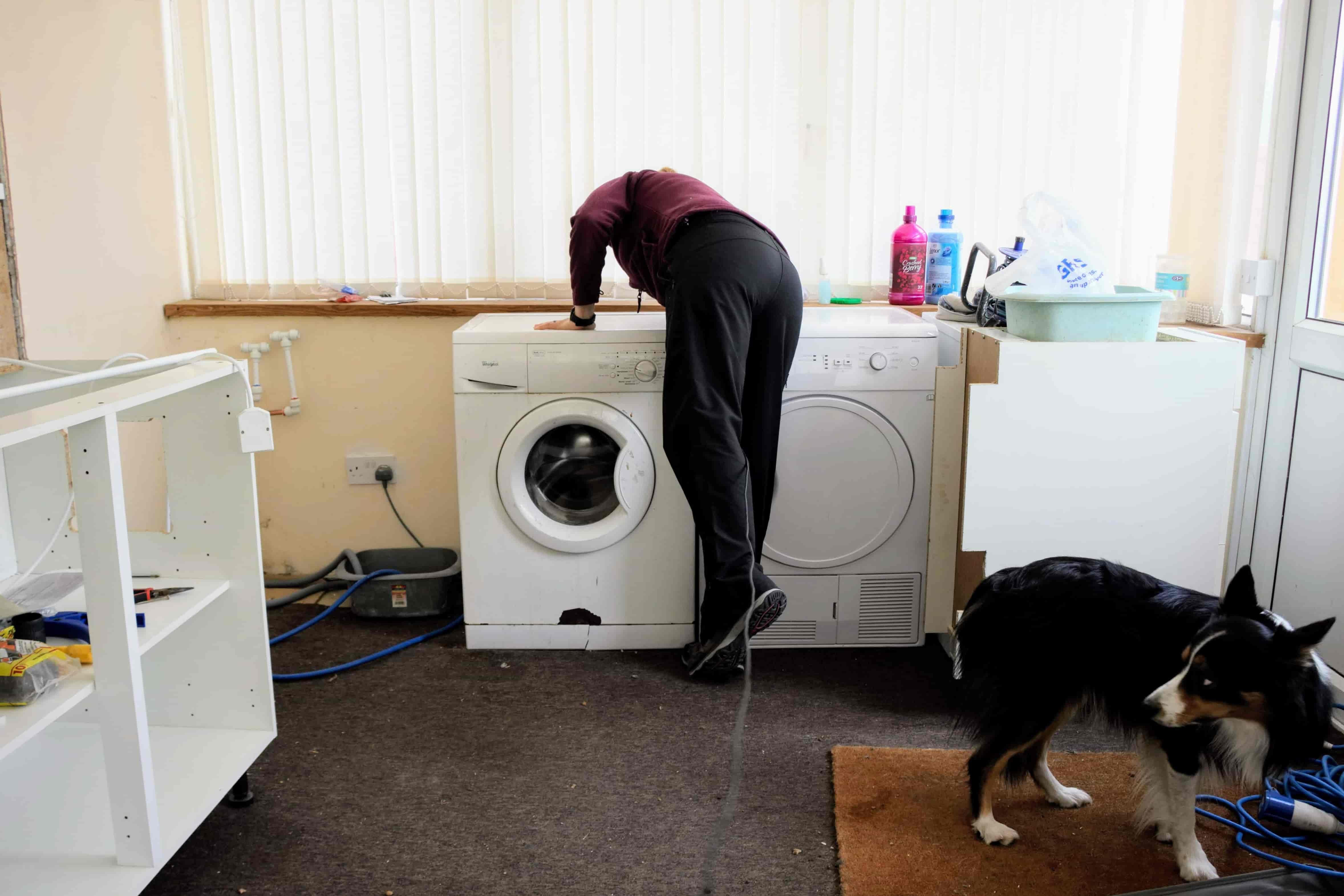 fitting speedfit pumbing at back of washing machine