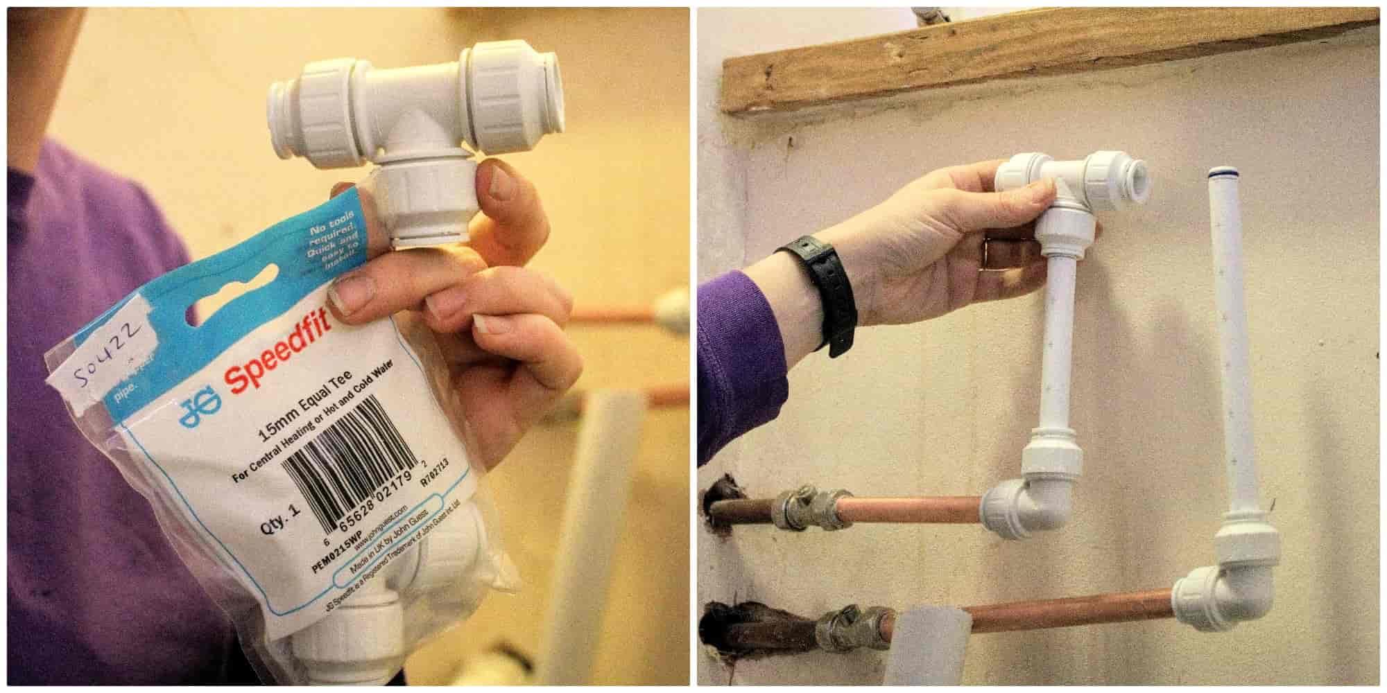 speedfit plumbing 15mm equal tee fitting
