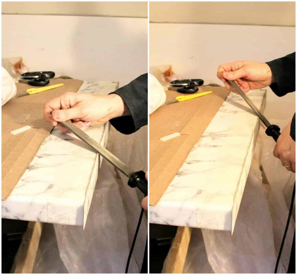 how to cut a worktop with a hand saw