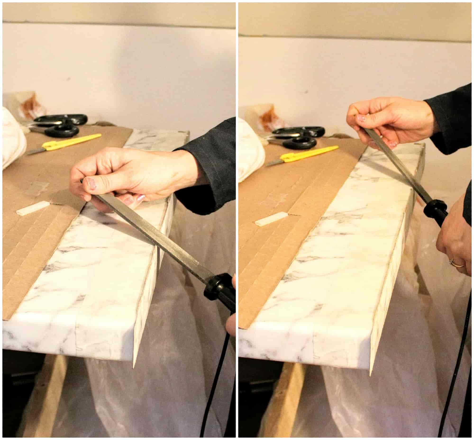Brilliant How To Cut A Worktop With A Hand Saw Add Edging Tape The Download Free Architecture Designs Sospemadebymaigaardcom