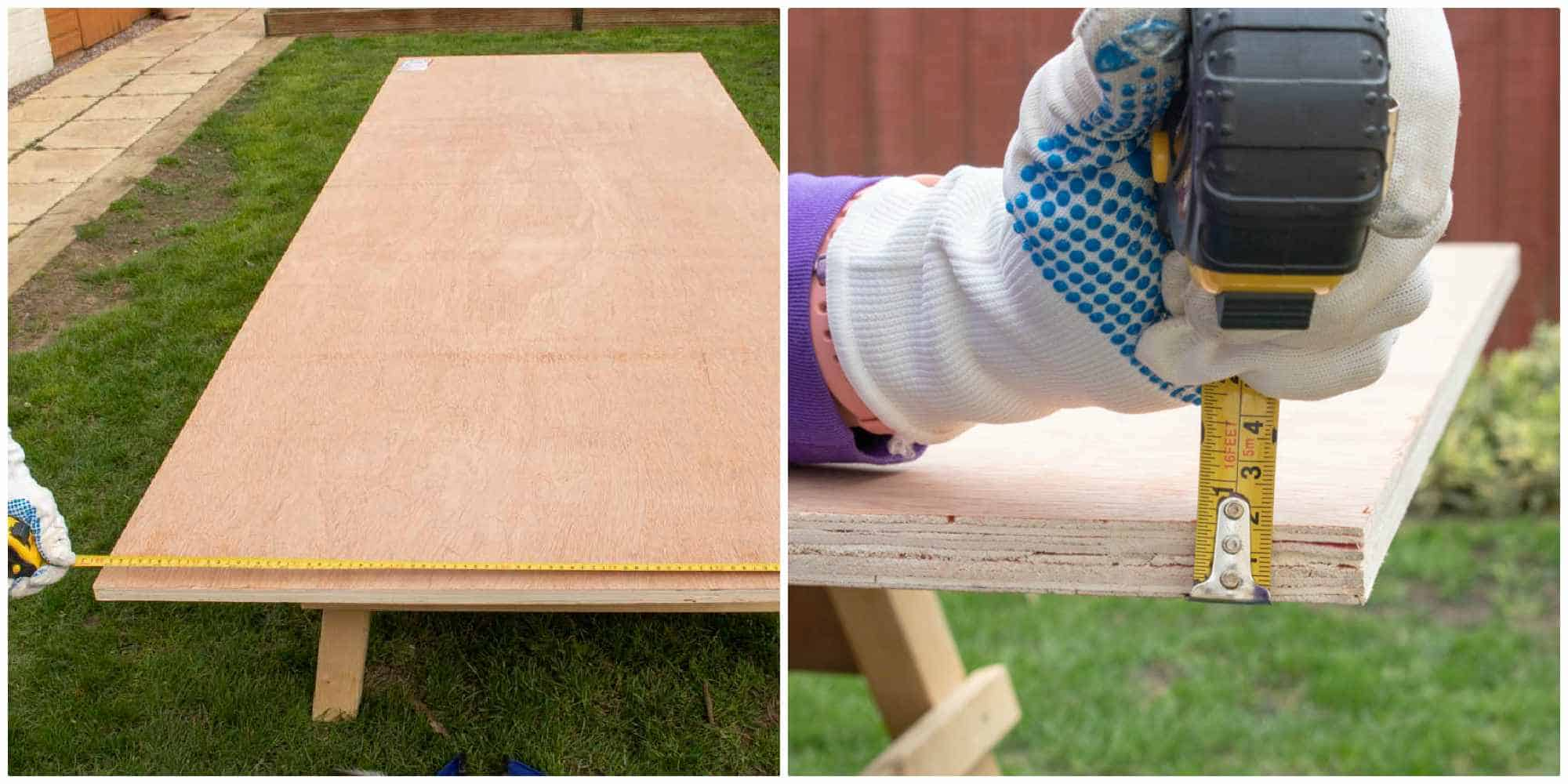 18mm thick plywood from B&Q