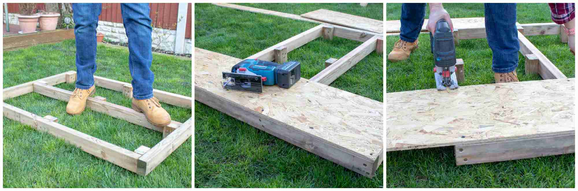 adding OSB flooring to dog kennel base