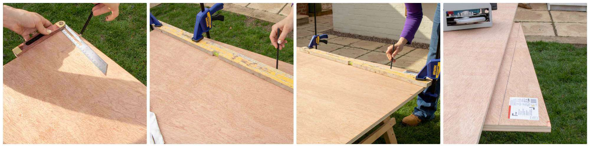 marking sloping kenel with sliding bevel