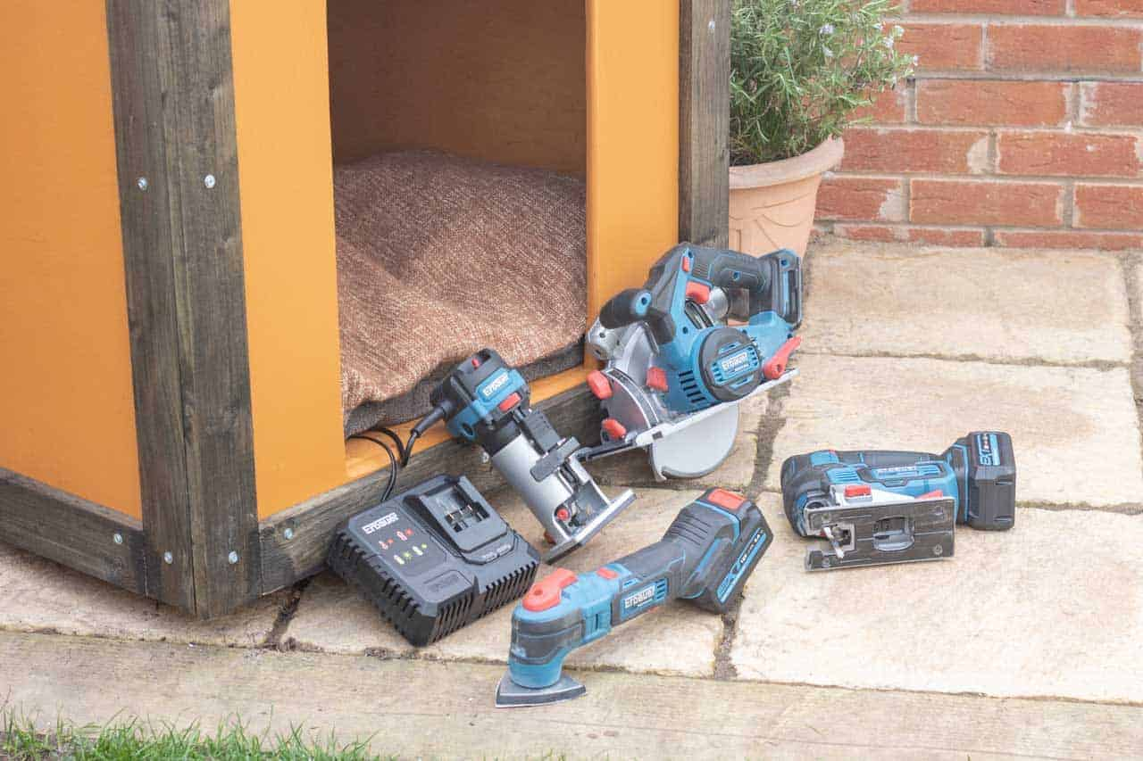 B&Q's latest range of Erbauer cordless power tools and palm router