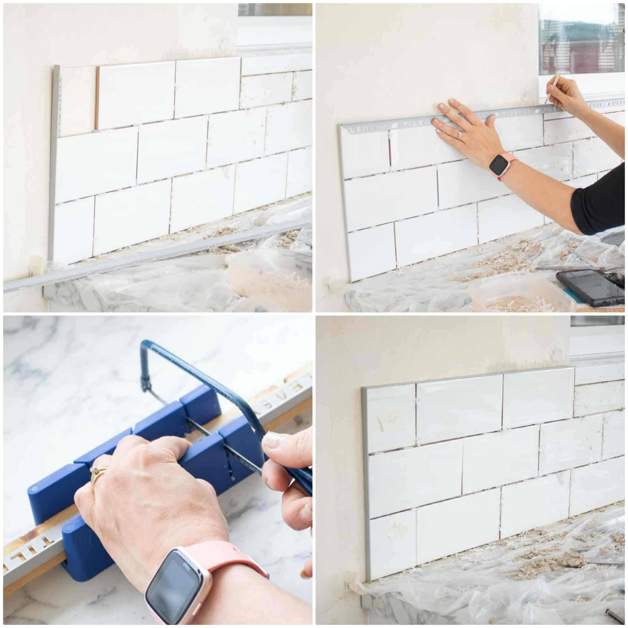 planning tiles before cutting trim