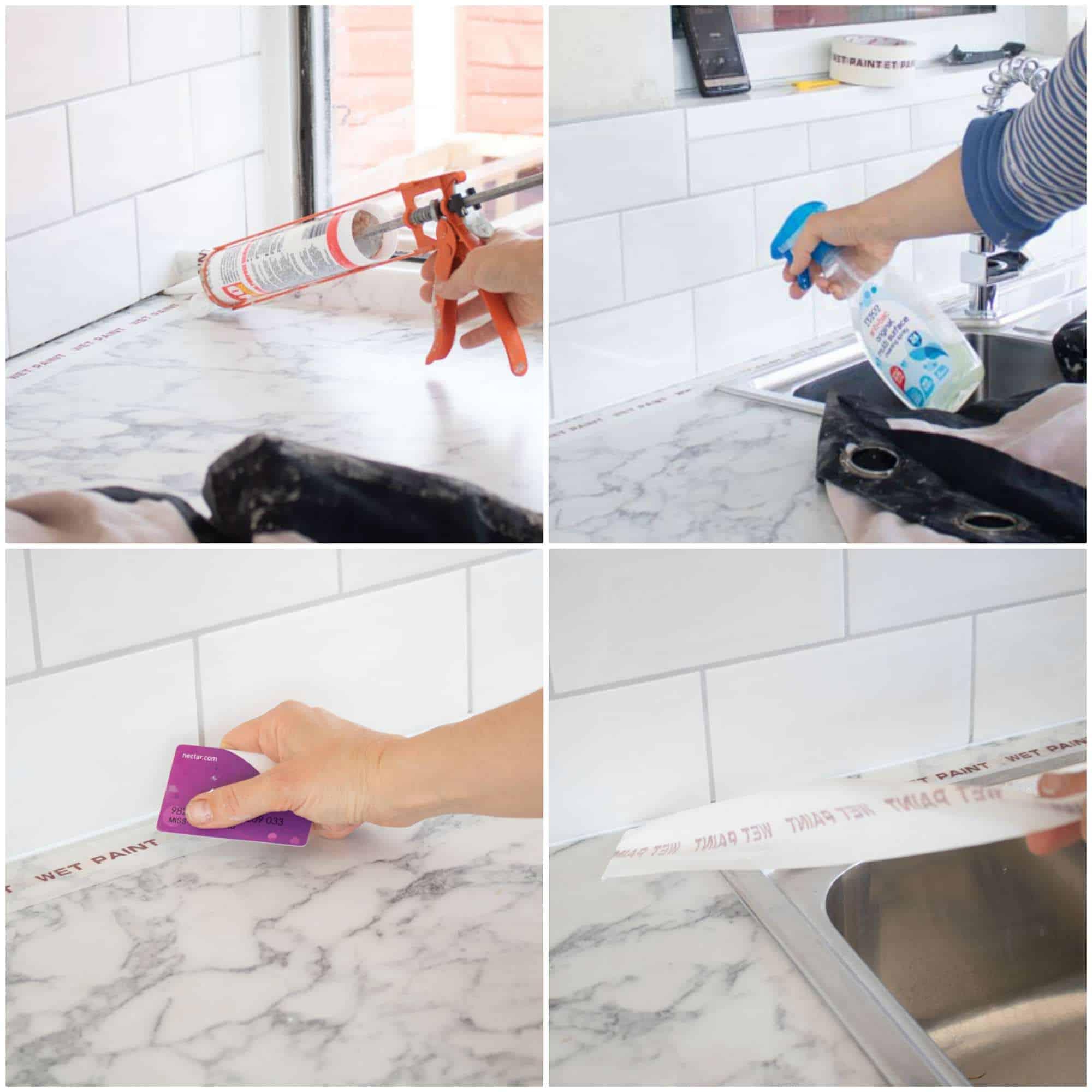 silicone sealing a kitchen like a pro