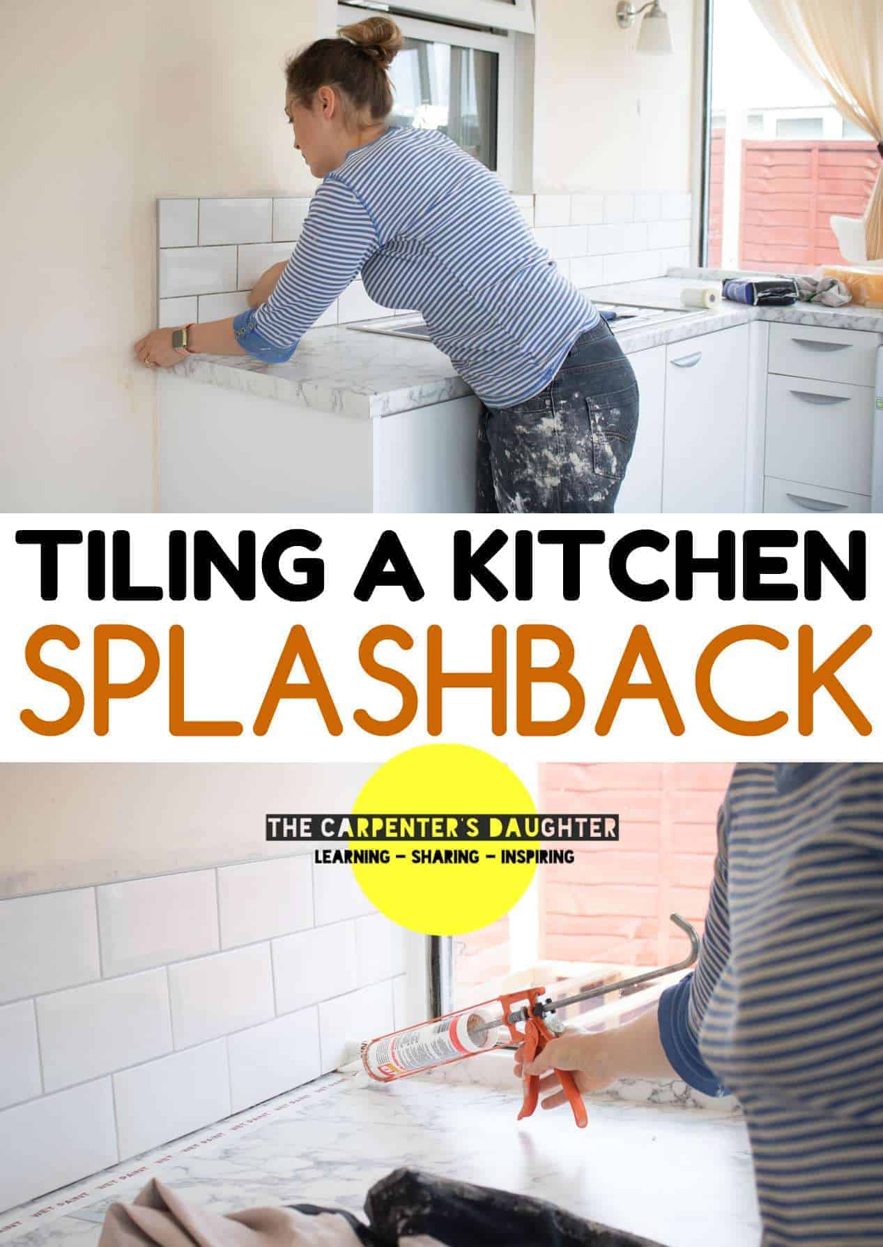 Tiling a kitchen splashback pinterest pin