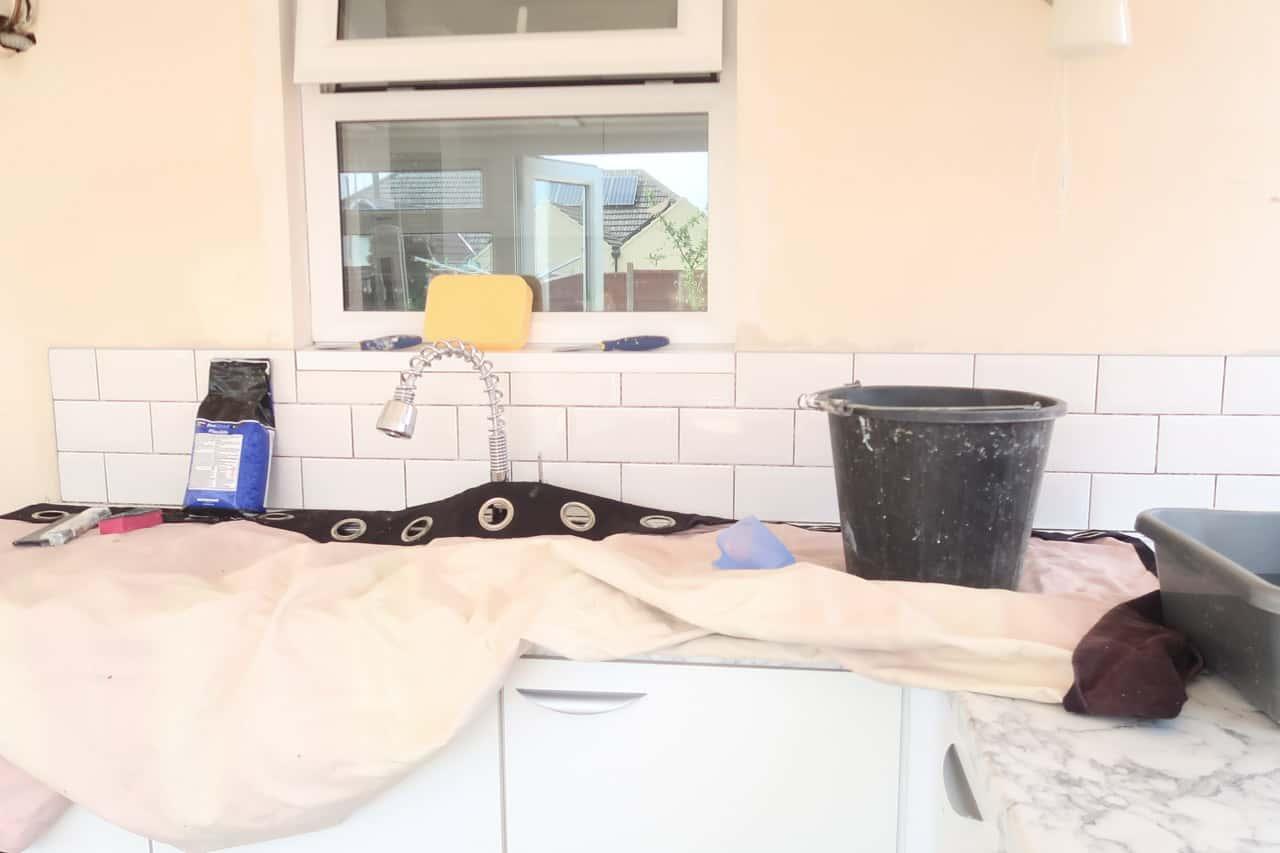 Things needed for a tiled kitchen splashback