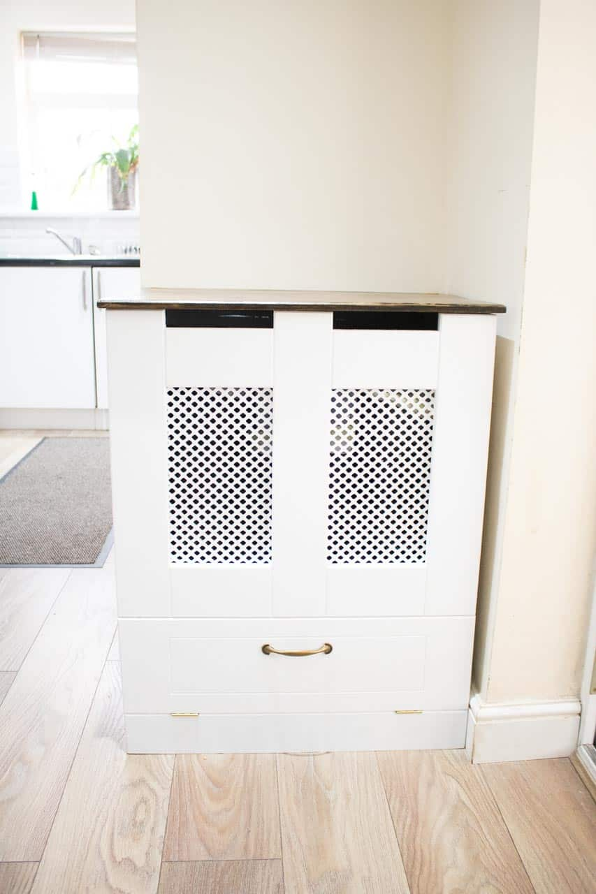 DIY Kitchen Recycling Bins Cupboard - The Carpenter's Daughter