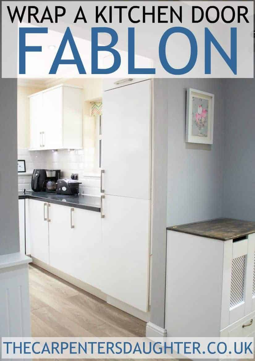 How to wrap a kitchen door with Fablon.