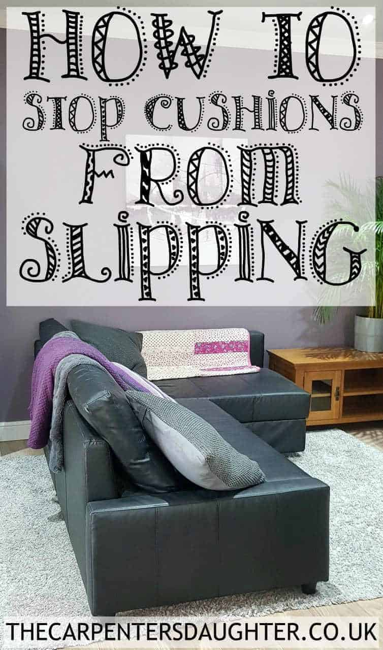 how to stop sofa cuhions from slipping using velcro tape.