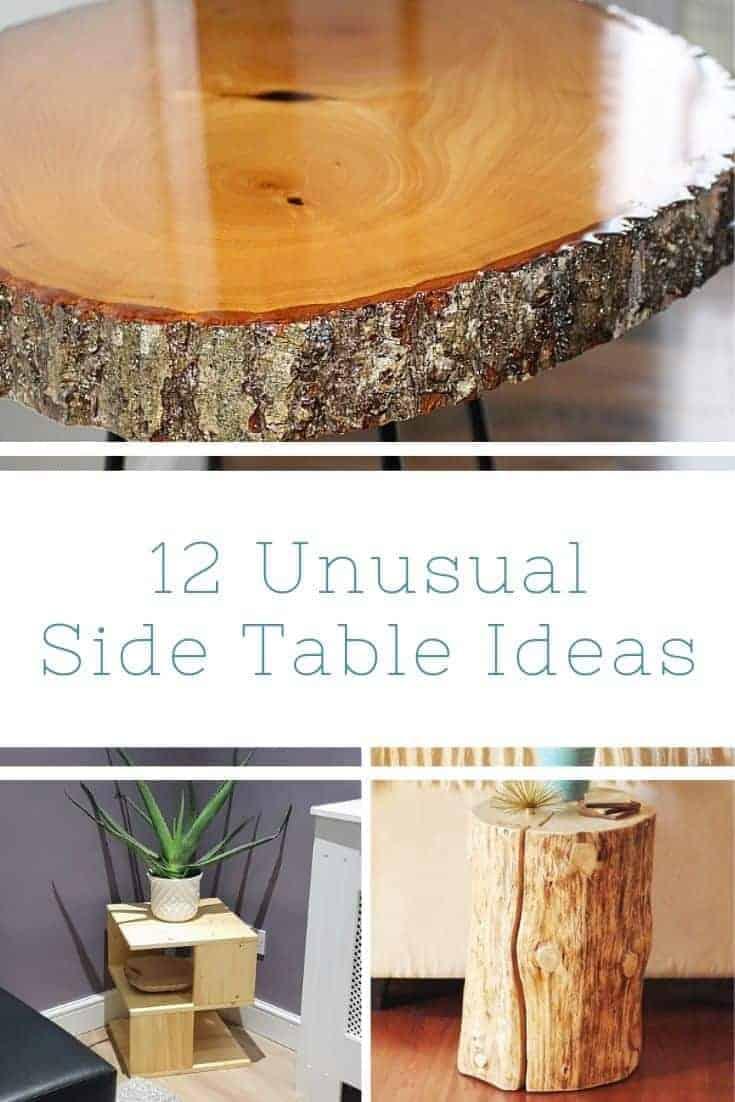 12 DIY Unusual Side Tables
