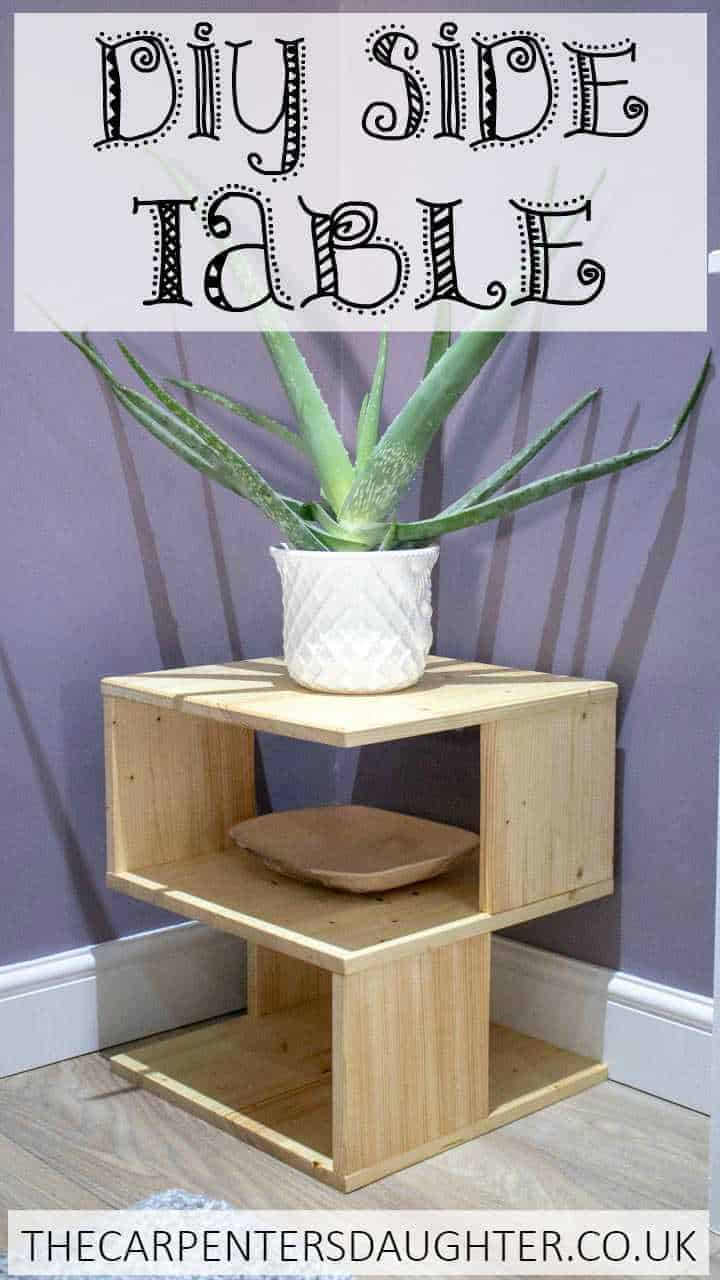 How to make this DIY S Shaped unusual side table
