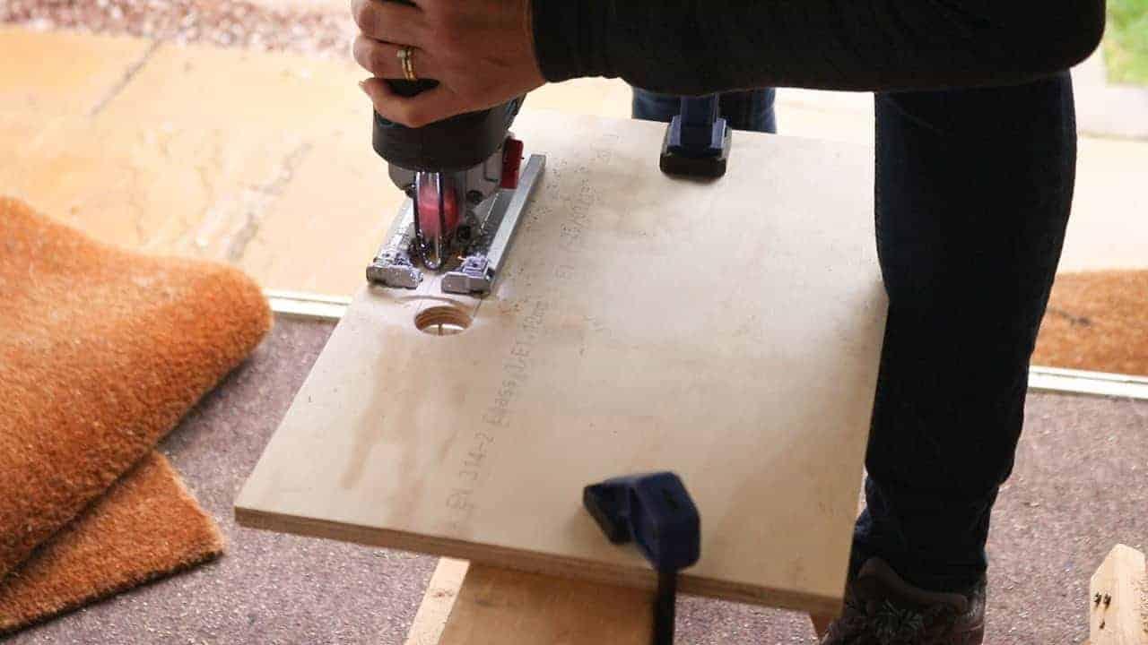 cutting handles with jigsaw