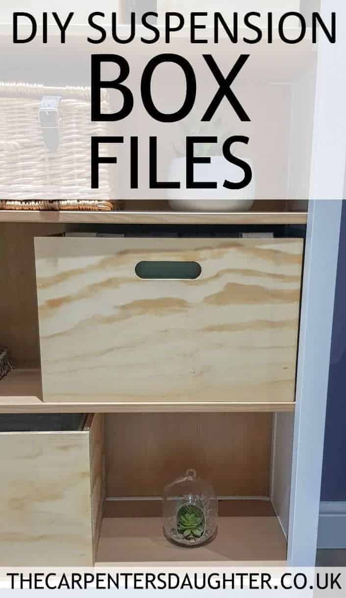 how to make wooden suspension box files using plywood.