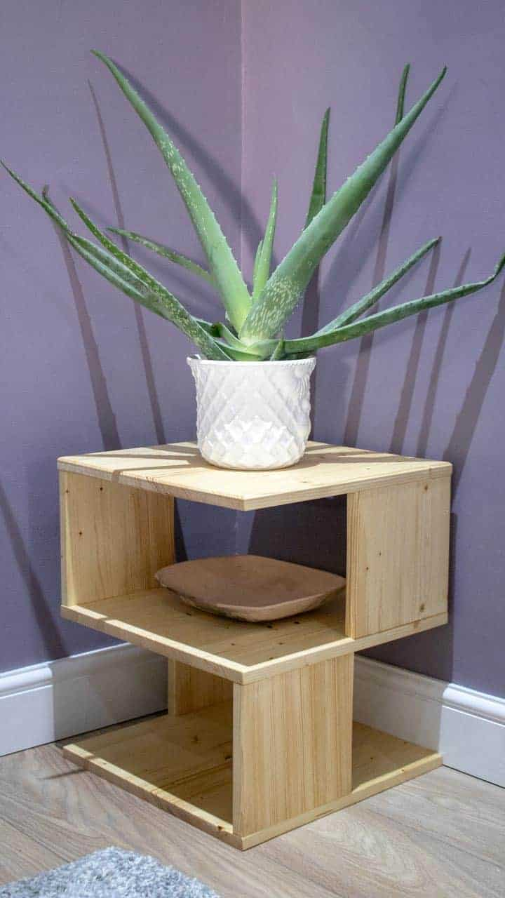 S Shaped Unusual Side Table