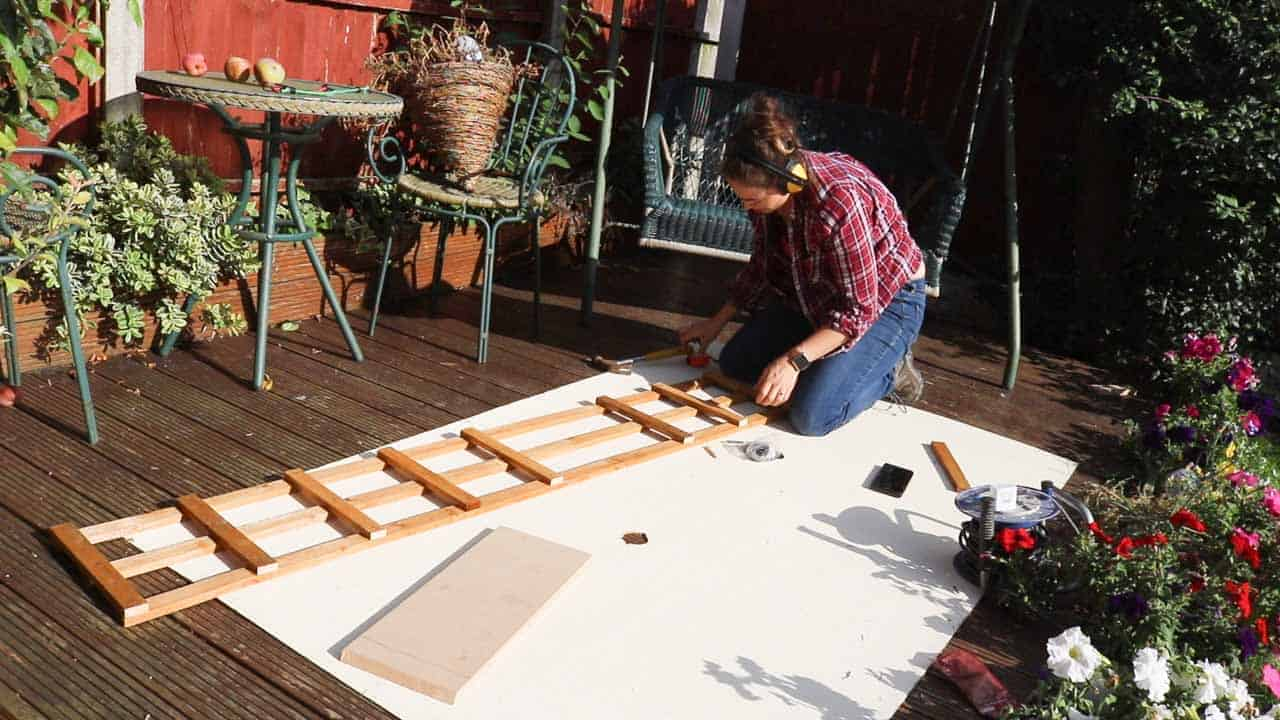 rectangular trellis for wall