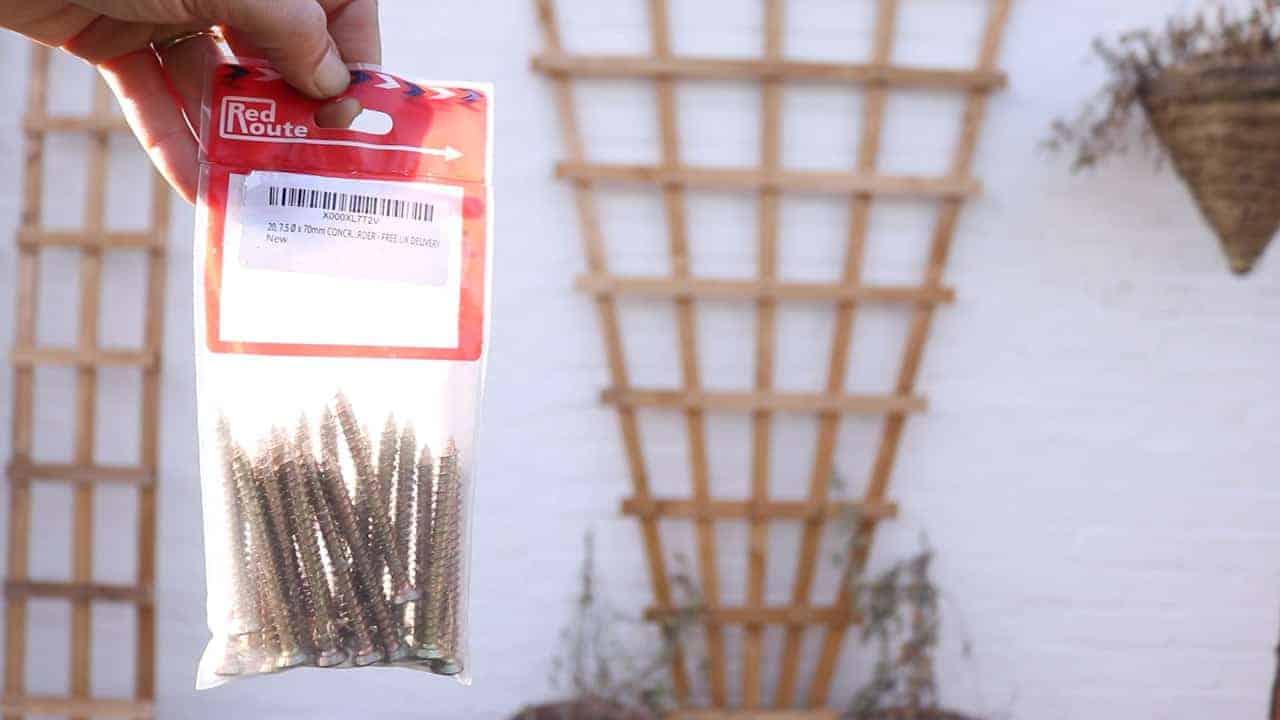 concrete screws for brick wall to mount trellis