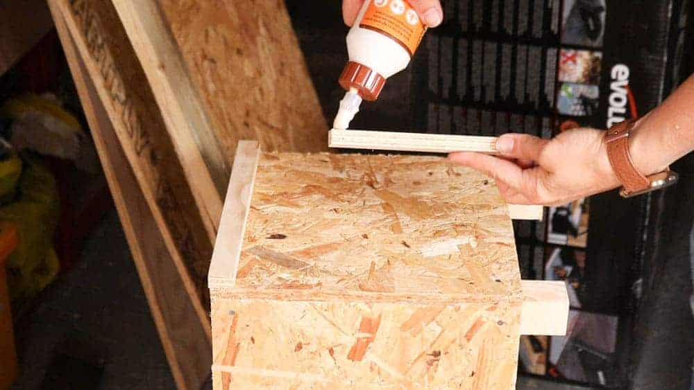 gluing trim to osb cladding