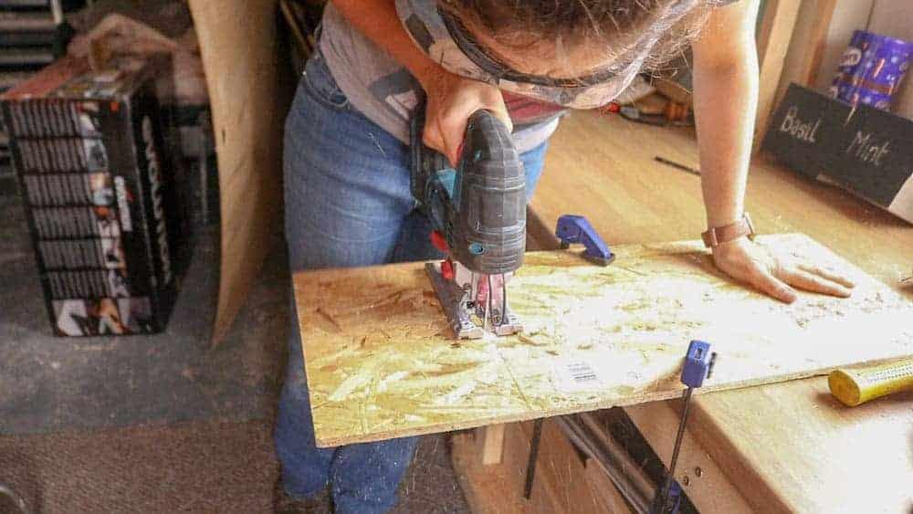 cutting box cladding with jigsaw