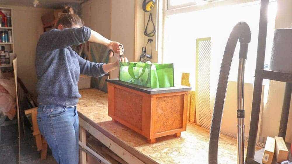 slicing a bag for life as trellis plangter membrane