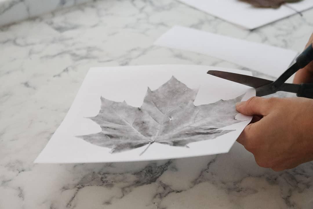 cutting maple leaf template