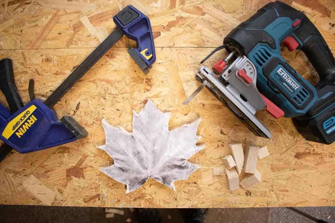 jigsawing maple teplate