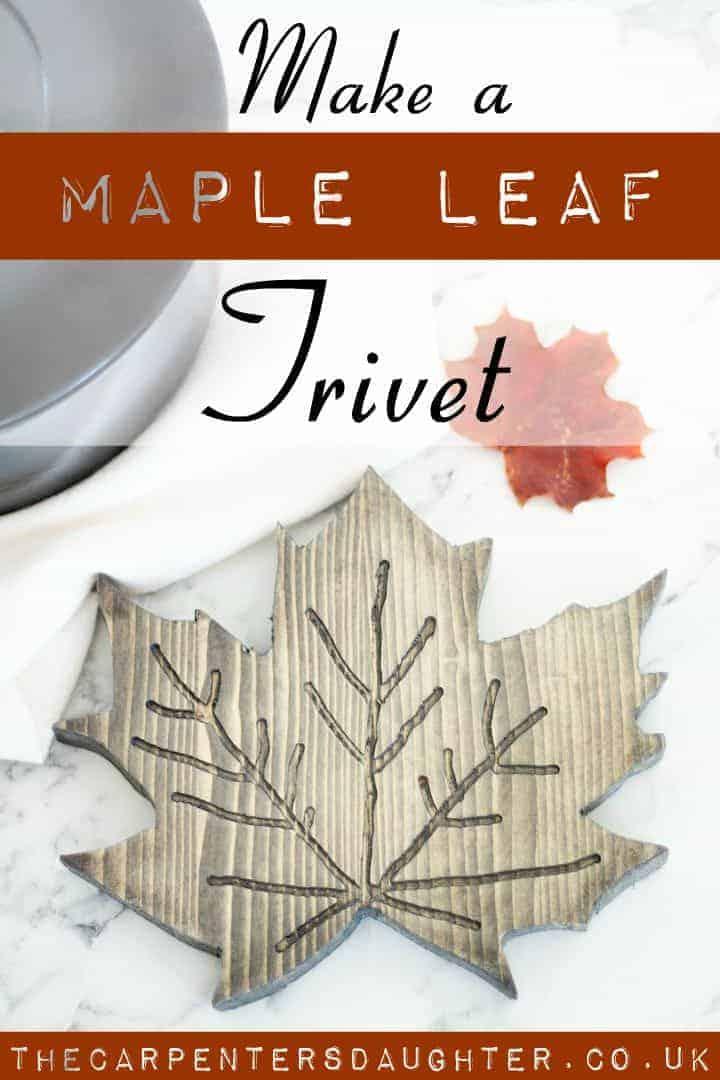 how to make a maple leaf trivet