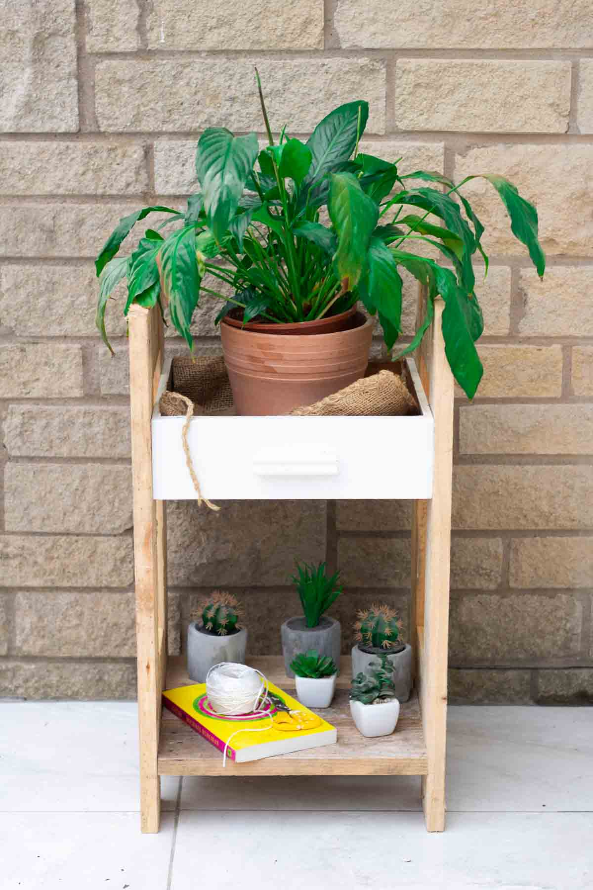 How To Make A Plant Stand Upcycled Drawer The Carpenter S Daughter
